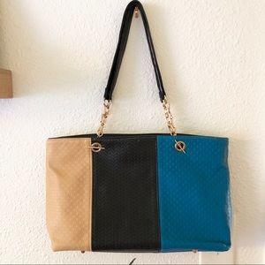 Handbags - Color block tote NWOT